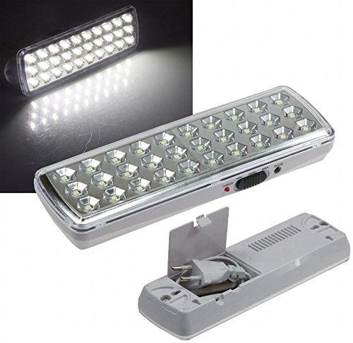 LED Akku Notleuchte Notbeleuchtung Sicherheitsleuchte mit 30 LED's 21505