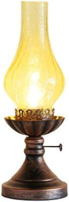 KOLIT Antigua lámpara de queroseno Lámpara de mesa Nostálgico ...