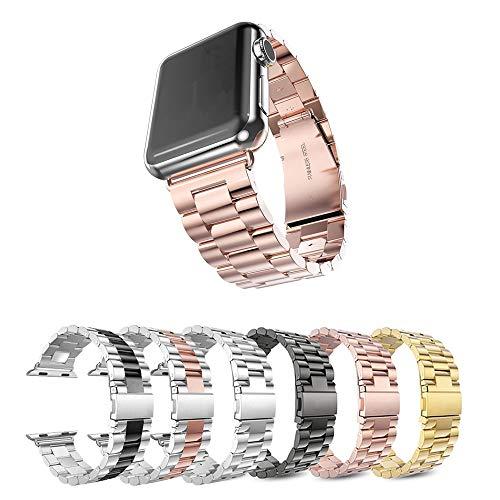 Pulseira Metal 3 Elos para Apple Watch 40mm e 38mm - Marca Ltimports (Rose Gold)