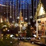 Tuopuda Natale Fiocco di Neve Adesivi Finestra Sticker Natale Decorativi Adesivi Decorazione Vetrina Wallpaper Natale Addobbi Statico Natale Addobbi Christmas Decor Sticker Natale Vetrofanie