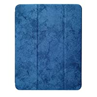 IPhone iPad Air4 10.9インチ2020、サスペンション/自動起動、調節可能なタブレットスタンド、鉛筆スロット付きのソフト保護ケース,Navy blue 1