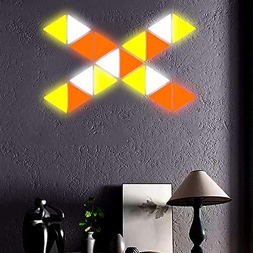 Yxxc Lámparas Paneles de luz RGB Inteligentes, Paneles de luz Inteligente LED APLICACIÓN Dimming Paneles de iluminación Inteligente Triangulares Luz Nocturna para hogares Decoración de Pared 6 Kit
