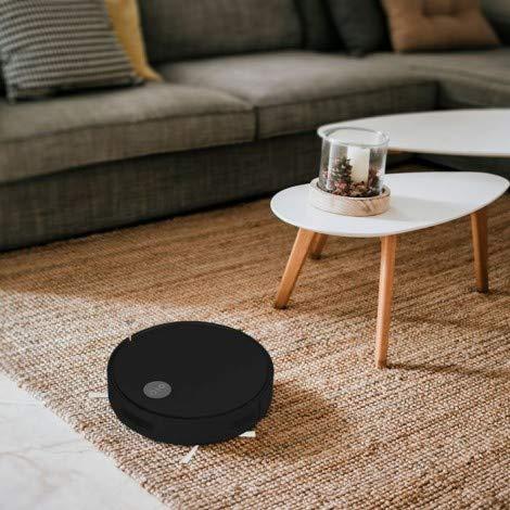 Smart Robot Aspirateur avec boîtier ABS à télécommande 800 PA Niveau de bruit sans bruit: < 65 dB Capacité de stockage: 430 ml Batterie lithium-ion 2000 mAh, 14,4 V (Noir)