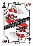 2019-20 O-Pee-Chee OPC Playing Cards #4-CLUBS Sebastian Aho Carolina Hurricanes Official NHL Hockey Trading Card (made by Upper Deck)