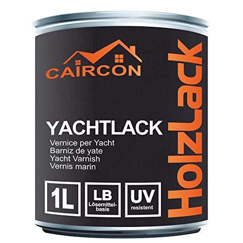 Yachtlack | Lack für Holz Glänzend Tiefschwarz | Yachfarbe Schiffslackierung Bootslack Holzlack für Schiff Boot etc.1L