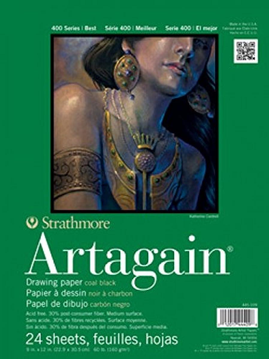 Strathmore 400 Series Artagain Pad, Coal Black, 12