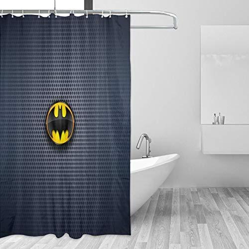 Why So Serious Joker Batman Duschvorhang für Badezimmer, Stoffvorhang mit 12 Haken, mehrfarbig, 167,6 x 182,9 cm