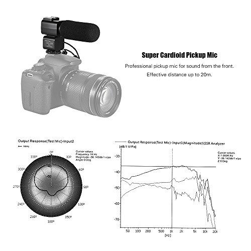 Andoer CM-520 kamera Mikrofon Super Cardioid Elektret Kondensator Mic mit Hot Schuhhalter für Canon Nikon Sony DSLR Digital Video Kamera Camcorder