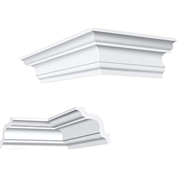 leicht und stabil Zierleisten E-44 Sparpaket LED Stuckprofile f/ür Decken-// und Wand/übergang wei/ß modern 20 x 32 mm extrudiertes Styropor XPS 4 dekorative Montagearten 20 Meter