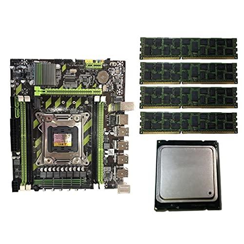 UNF Placa Base X79G LGA2011 Placa Base E5 2689 CPU 4x8G DDR3 -RAM PCI-E NVME M.2 SSD Placas Base De Computadora con Procesador Y Memoria