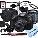 Canon EOS 90D DSLR Camera with 18-55mm STM Lens+32GB Card, Tripod, Case, and More...