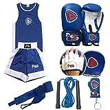 Prime Leather PSS Ultimate - Juego de 6 guantes de boxeo para niños de 3 a 10 años + almohadilla de ...