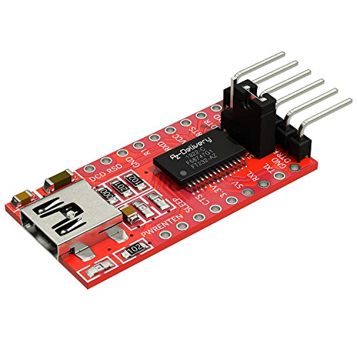 AZDelivery FT232RL Mini USB to TTL Serial Converter Adapter Module 3.3V 5.5V FT232R Port DTR RX TX VCC CTS GND Pin for Raspberry Pi Arduino including E-Book!