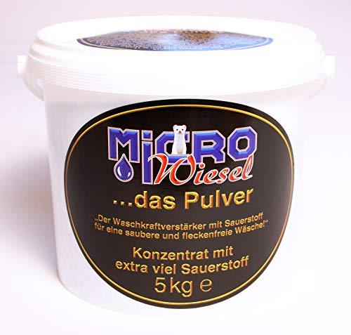 Reinwelt Microwiesel.das Pulver-Waschkraftverstärker/Fleckenlöser mit extra viel Sauerstoff / 5kg inkl.Messlöffel