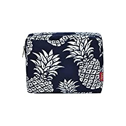 in budget affordable N. Gil 2 Large Travel Cosmetic Bag (Dark Blue Pineapple)