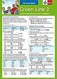 Green Line 2 - Auf einen Blick: Grammatik passend zum Schulbuch - Klappkarte (6 Seiten) - Sabine Schlimm