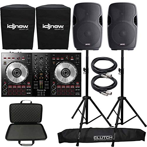Fantastic Prices! Pioneer DDJ-SB3 Serato Starter DJ Controller Pack w Case + 12 Speakers + Stands