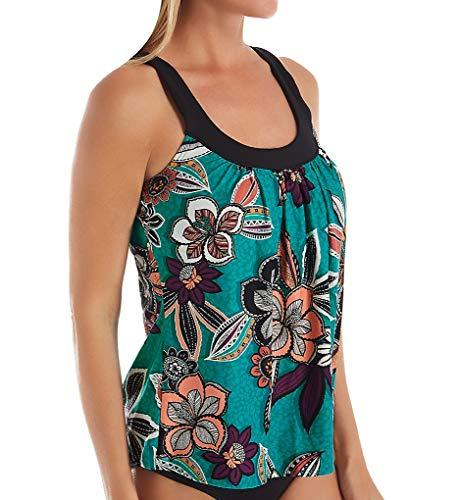 Coco Reef Women's Ultra FIT Bra Sized Tankini, Dark Turquoise 442, 36D