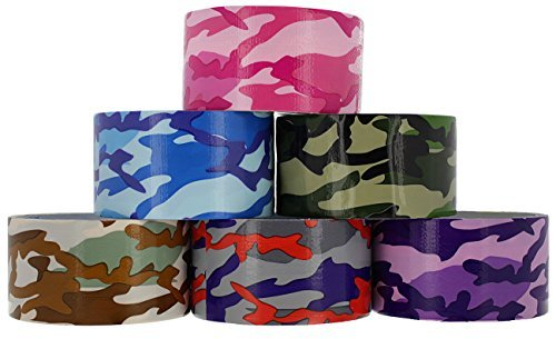 RAM-PRO Camouflage Series Heavy-Duty Duct Tape | Assorted Colors Pack of 6 Rolls, 1.88-inch x 5 Yard
