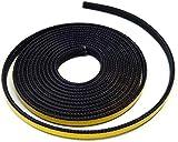 Cinta de sellado autoadhesiva para chimenea, 3 m, diámetro 8 x 2 mm, compatible con diferentes modelos de chimenea naranja
