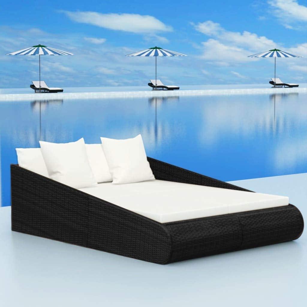 Cash special price NusGear Garden Bed Black Poly Rattan -667 79.1