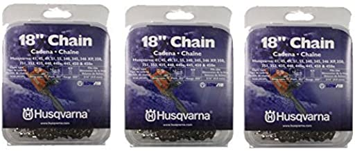 Husqvarna 531300439 Pack of 3 Chainsaw Chain