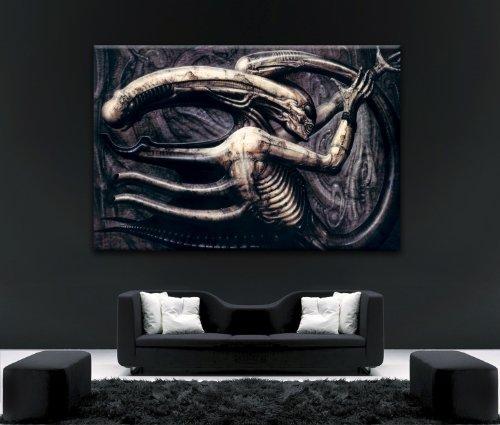 Kunstdruck auf Leinwand, Motiv Alien V Predator, gerahmt, 101,6 x 61 cm