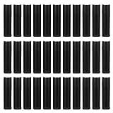 50 Piezas Negro Tubos de bálsamo 5.5g,Tubo Bálsamo Labio DIY para Labios Bálsamo Labial casero rellenable con Tapas,Envases de Labios de Plástico para Brillos de Labios Hechos en casa Rellenable