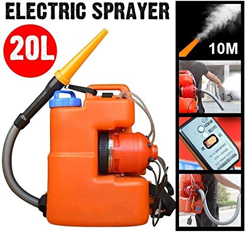GHDE& 20L Pulverizador eléctrico de Niebla ULV Pulverizador de Ultra Capacidad 6-10 m de Distancia Adecuado para Grandes Lugares públicos Oficina de Agricultura y Desinfección Industrial