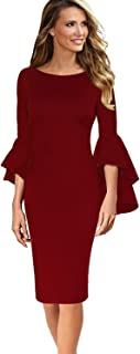Best knee length dress red Reviews