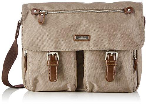TOM TAILOR Umhängetaschen Damen, RINA, Beige (taupe 21), 26x20x10 cm, TOM TAILOR Taschen für Damen, Messenger Bag