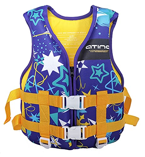 Lunch Box Chalecos Salvavidas para Niños, Chaleco De Natación De Flotabilidad, Chaleco Flotante De Seguridad Ajustable para Niños para Entrenamiento De Natación,Púrpura,Less Than 40kg