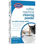 Urnex Coffee Maker and Espresso Machine Cleaner Cleancaf Powder - 3 Packets - Safe On Keurig Delonghi Nespresso Ninja Hamilton Beach Mr Coffee Braun
