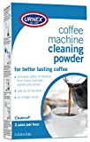 Urnex Coffee Maker and Espresso Machine Cleaner Cleancaf Powder - 3 Packets - Safe On Keurig Delonghi Nespresso Ninja Hamilton Beach Mr Coffee Braun