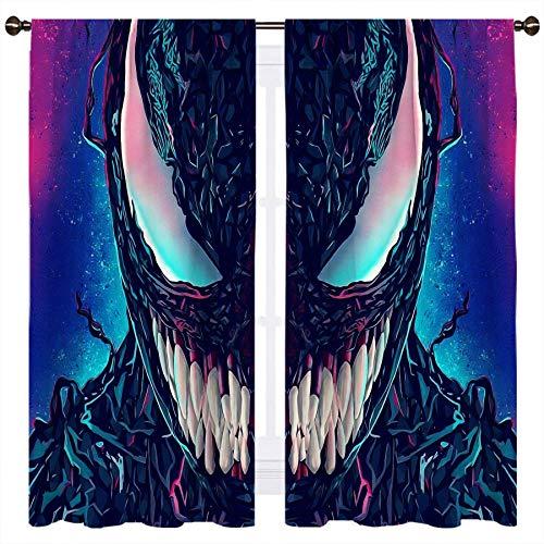 SSKJTC Venom Film - Cortina opaca de media cara para ventana, aislamiento térmico, 42 x 45 pulgadas