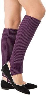 VJGOAL, Mujer de moda casual Calentadores Cómodo Transpirable Deportes de punto Calcetines largos de yoga Cubierta(Un tamaño,Púrpura)