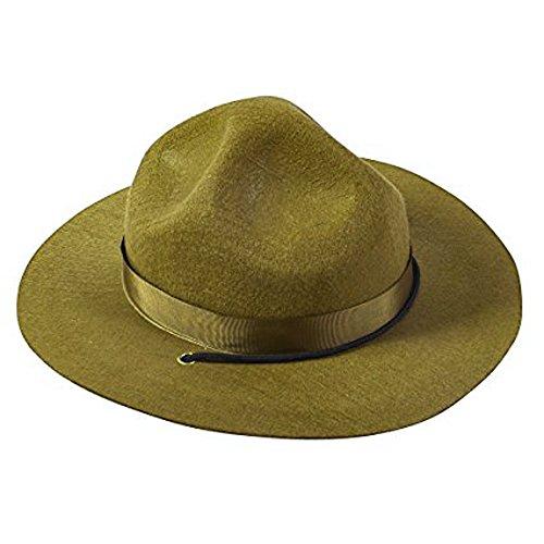 Funny Party Hats Park Ranger Hut - State Trooper Kostüm - Mountie Olive Green Hat - Drill Sergeant Hat