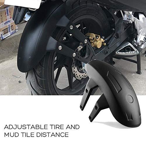 Rueda trasera de la motocicleta de plástico negra universal para la cubierta de la rueda trasera del protector de salpicaduras del guardabarros del guardabarros del guardabarros con el soporte Guardab