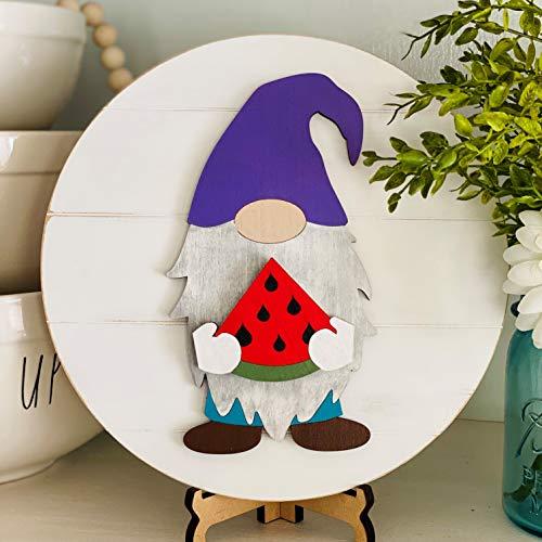 Interchangeable Shiplap Gnome Sign DIY, gnome sign, gnome decor, seasonal sign