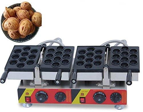 Comercial antiadherente eléctrica 20pcs Oreshki nogal para galletas máquina para hacer gofres CE certificación 220 V – 240 V