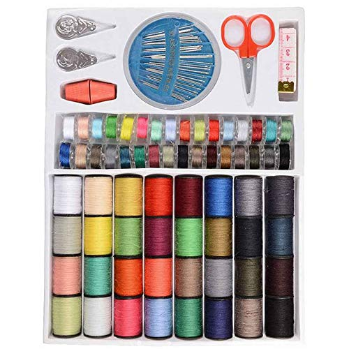 shiy Hilo para Tejer a Crochet 64 Clases de Color Mixto de poliéster Hilo de Coser Hilo de Coser Máquina Manual de la Bobina Pompones de Colores