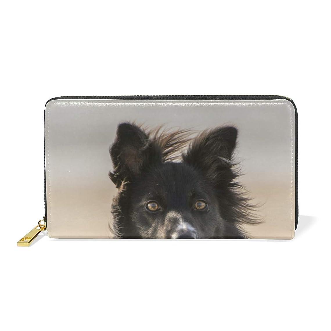 キャンバス楽しませる特徴づけるAyuStyle 長財布 財布 レディース メンズ 犬 イヌ 写真 大容量 個性的 ラウンドファスナー ロング ウォレット PUレザー お札入れ 小銭入れ カード入れ