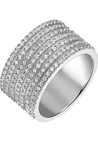 JETTE Silver Damen-Damenring 925er Silber 161 Zirkonia 59 Silber 32005347