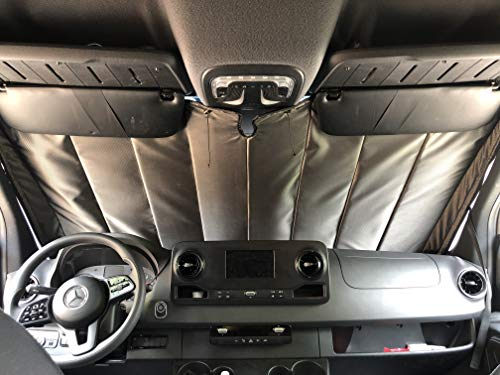 VanEssential Mercedes-Benz Sprinter Van NCV3/VS30 Insulated Sun Front Windshield Cover (2007 - Current)