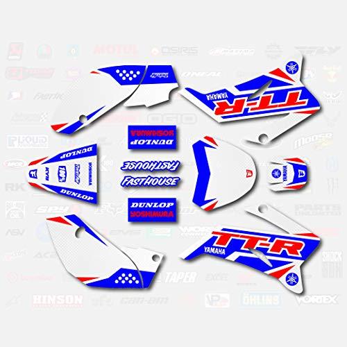 Red Blue Shift Racing Graphics fit 2008-2019 YAMAHA TTR110 Sticker TTR 110 08-19