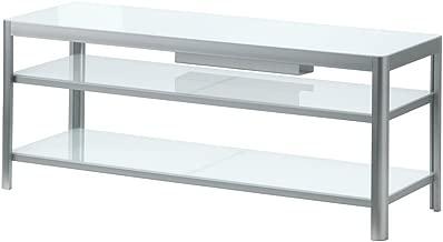 GETTORP TV unit, white, aluminum TV Stand Entertainment Media Center Theater Cabinet Storage