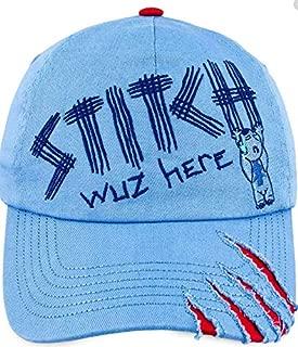 Disney Parks Kids Baseball Cap - Stitch Wuz Here Blue, Red