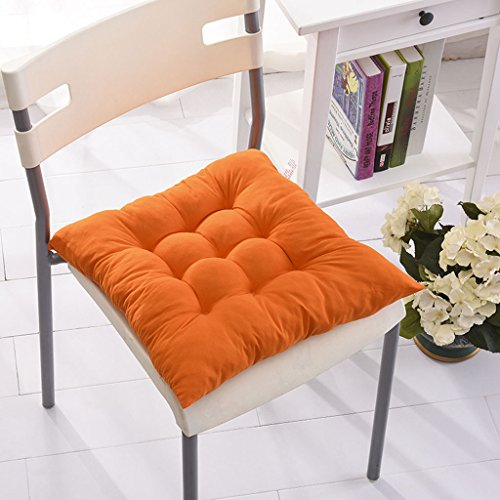 Fu Man Li Trading Company Automne et Hiver Étudiants en Couleur Solide Coussins de Coussin Plus épais Coussins coussinés Coussins de Bureau (Pas de chaises incluses) A+ (Couleur : Orange)