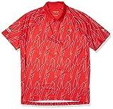 Lacoste Men's Sport Novak Djokovic Allover Print Technical Polo Shirt, Fireman/Whitewhite, S
