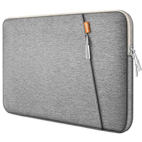 "JETech 13,3 Pollici Sleeve Laptop Notebook Tablet iPad Tab, Custodia Borsa Impermeabile Compatibile MacBook Air/PRO, 13"" MacBook Pro, 12.3 Surface PRO, Surface Laptop, Grigio chiaro"